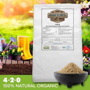 FISHTOWN® 4-2-0 Organic Crab Shell Fertilizer (40 lb)